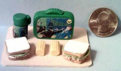 Barbie Doll Sized Green Hornet Vintage Style Lunch Box Set