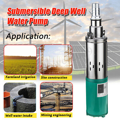 260W 24V 1.2m³/h Electric Solar Water Pump Submersible Bore Hole Deep Well Pump
