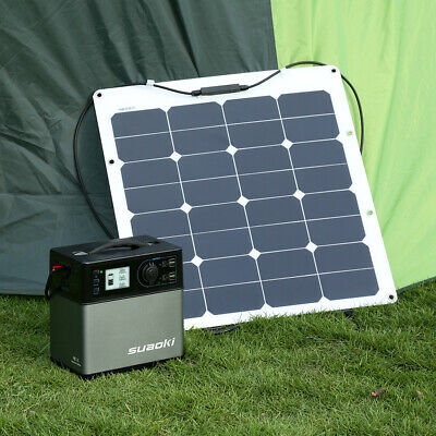 Suaoki Générateur solaire USB Power Station 500Wh Sun-Power Station Enegy Supply