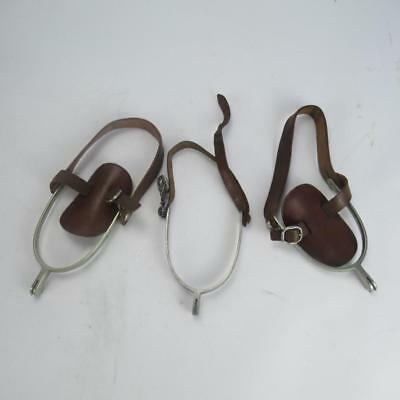 Set of 3 Spurs - 2x Moss Bros & Co & 1x Eglantine - All with Leather Straps