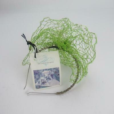 The London Hat House Lime Green Wire Fascinator w/ Metal Headband & Original Tag