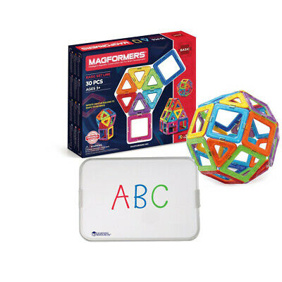 Travel Set Magformers 30pcs & magnetic Board construction -Fun on-the-go/travel