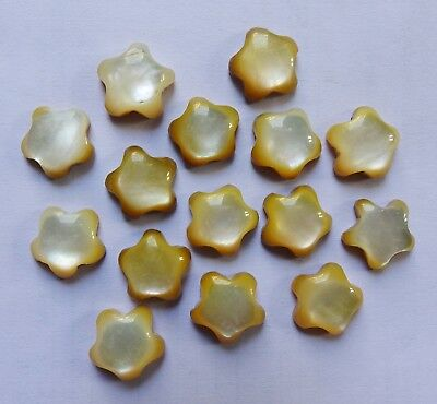 85.00 Ct. MOTHER OF PEARL FANCY SHAPE CABOCHON 15 PCS LOT 13X13X5 Gemstone India