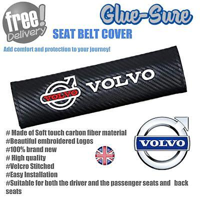 Volvo Car Seat Belt Safety Shoulder Strap Cover Cushion Pad Carbon Fiber