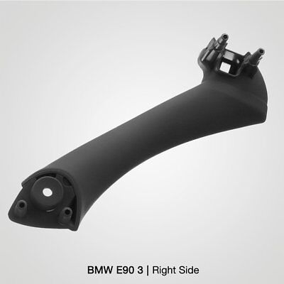 Black Right Inner Door Panel Handle Pull Trim Cover for BMW E90 3Series Sedan NX