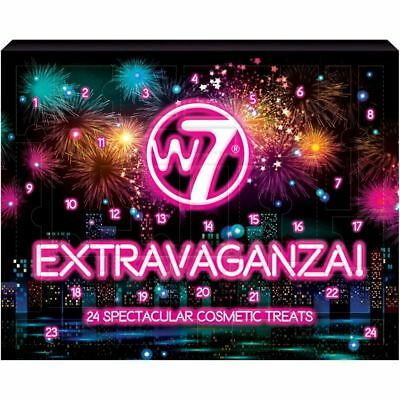 NEW W7 Cosmetics Extravaganza 24-Piece Makeup Advent Calendar