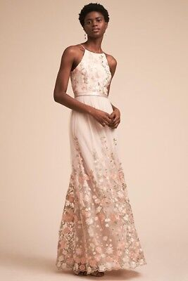 8937455af1 NEW ANTHROPOLOGIE BHLDN Shannon Embroidered Maxi Dress Size Large ...