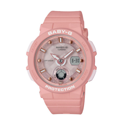 Baby-G By Casio Womens Analogue-Digital Quartz Wristwatch - Pink - Bga-250-4Aer