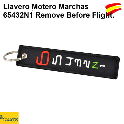 Llavero Motero Marchas 65432N1 Race Remove Before Flight