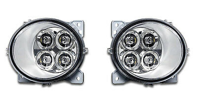 2 x 4 LED FOG DAYTIME RUNNIG LIGHTS RH/OS + LH/OS E4 SCANIA SER. P/G/R/T 2004+