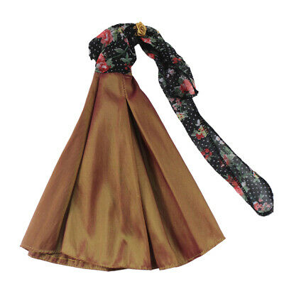 Elegant Doll Dress For 12 inch Doll Clothes Evening Dress Skirt Accessories