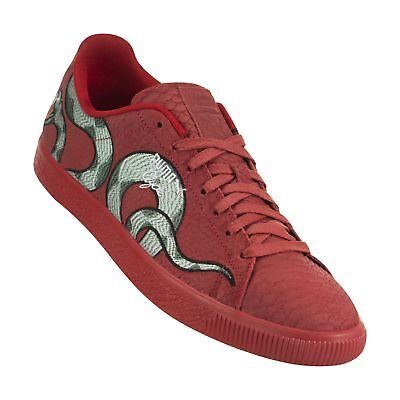 4cea41796129 PUMA - CLYDE   SNAKE EMBROIDERY - 368111 02 - Men s Shoes - RED - Size