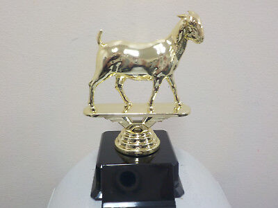 "Goat trophy, award, about 4"" high, includes engraving, 4H, State Fair"