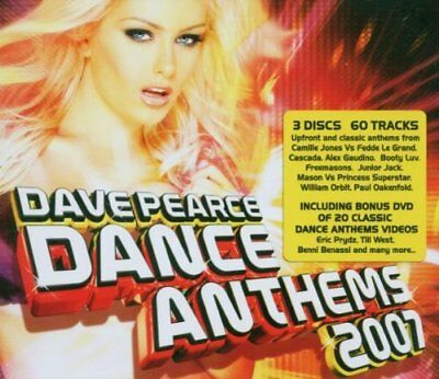 Various Artists-Dave Pearce Dance Anthems 2007 (+DVD) CD NEW