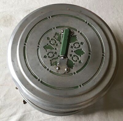 Vintage Mirro Aluminum Round Cake Carrier Serving Plate And Cover