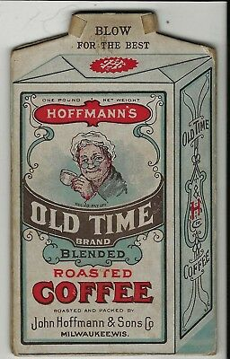 CARDBOARD ADVERTISING WHISTLE for HOFFMANN'S COFFEE