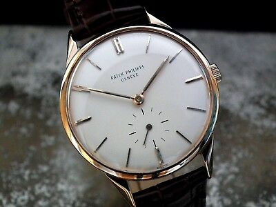 1955 18ct Rose Gold Patek Philippe 2568 with 18ct Patek Buckle Vintage Watch