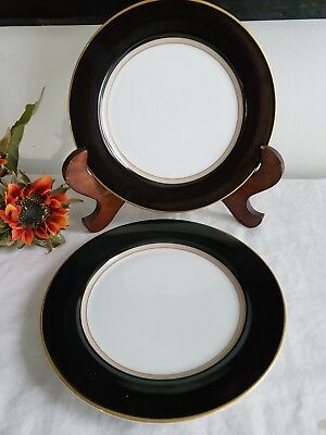 Grandeur Black by Mikasa - Bread & Butter Plates Set of 2 - DISCONTINUED PATTERN