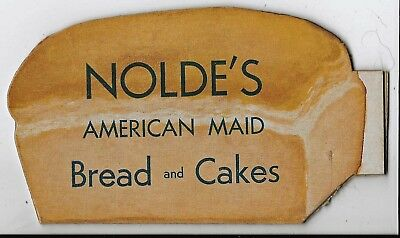 CARDBOARD ADVERTISING WHISTLE for NOLDE'S BREAD & CAKES