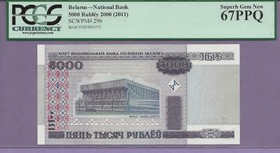 Belarus - National Bank 5000 Rubley  2000 ((2011 )) Pick # 29b PCGS PPQ  TOP POP