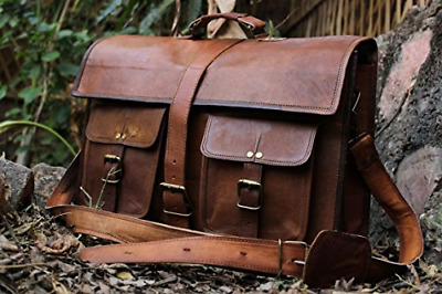 16 Inch Vintage Handmade Leather Messenger Bag for Laptop Briefcase Best Satchel