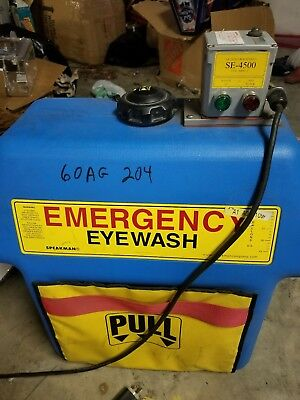 speakman SE-4500 emergency eye wash station heated gravity flo