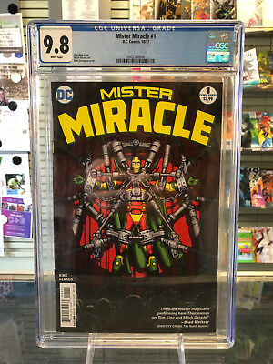 Mister Miracle (2017) #1 1st Print CGC 9.8 White Pages Tom King Mitch Gerads