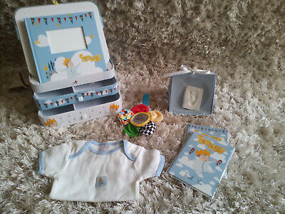 My Little King Hamper includes toy rattle and casting kit in a keepsake box boy