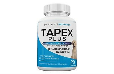 Tapex Plus Dewormer 20 Capsules Tapeworm for Small Dogs 1 Dose Works in 24 Hours