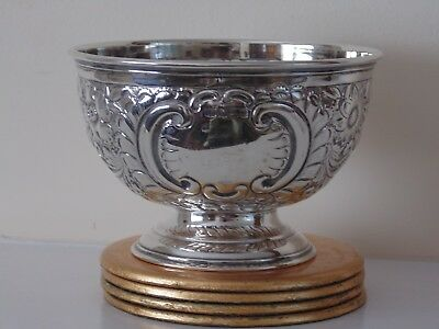 Antique Solid Silver Rose Bowl