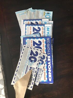 Lot Of 20 Bed Bath & Beyond Coupons (Fourteen 20% Off And Six $10 Off $30