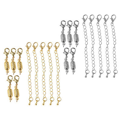 10Pcs Jewelry Necklace Beauty Gold/Silver Copper 6mm Magnetic Lobster Clasps
