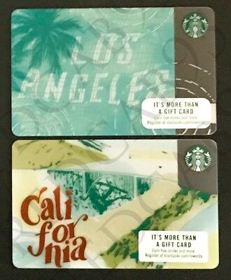 NEW Starbucks Los Angeles (LA) 'Reflections' City & California State Gift Cards