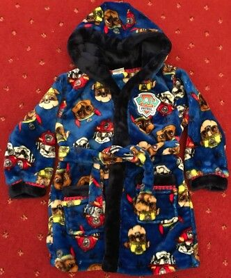 Paw Patrol Boys Blue Hooded Dressing Gown Age 2-3 Years 611d8c33b