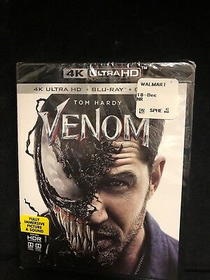 Venom (4K Ultra HD + Blu-ray + Digital, 2018) No Slipcover