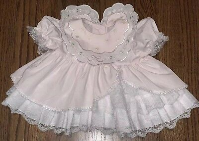 Vintage Girls Full Circle Party Twirl Lace Ruffle Dress 6 M Pink Sheer Pageant