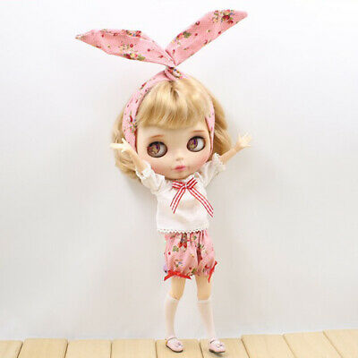 1/6 Cute Floral Pants Clothes for 12'' Blythe Azone Licca Doll Dress Up