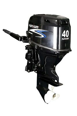 40 HP Parsun Outboard with Hydraulic Lift and Electric Start