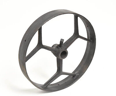 Vintage Industrial Large Iron Wheel Or Belt Pulley Unique Spokes Steampunk