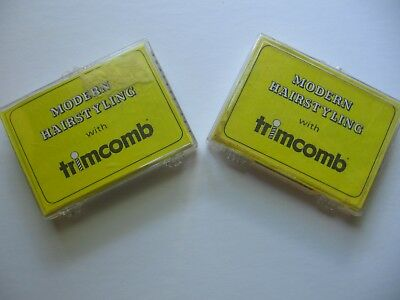 Two Vintage Trimcomb Modern Hairstyling Razors 1968