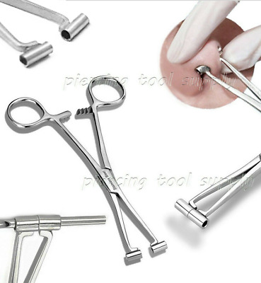 Septum Forceps Clamp Pliers 316L Surgical Stainless Steel Body Piercing Tools
