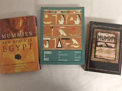 Lot of 3 books,  Ancient Egyptian History and Mummies,very good+ condition