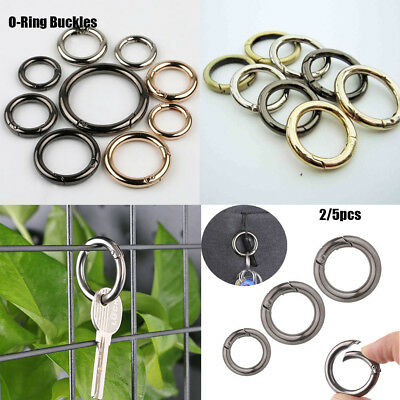 Spring O Ring Open Keyring Leather Bag Belt Buckle Snap Clasp Clip Trigger New