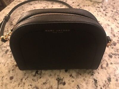 7d9a9134ae1f Authentic Nwt Marc Jacobs Black Leather Crossbody messenger Bag M0013035