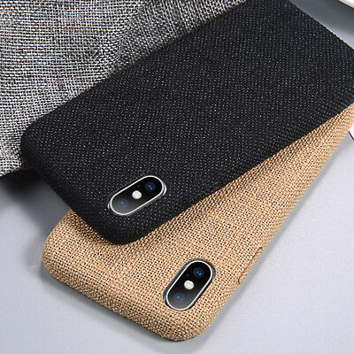For iPhone XS Max XR 7 8 6 Luxury Slim Fabric Texture Shockproof Hard Case Cover