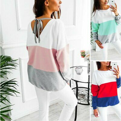 US ISASSY Women's Fashion Top Blouse Ladies Long Sleeve Casual Up Tops T Shirt