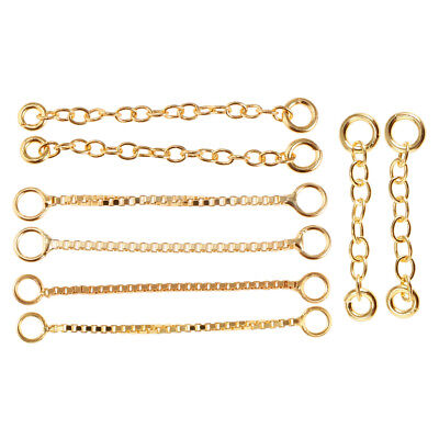 Silver Gold Copper Bronze Eyelets Extension per M 1m Link Chain 3x2mm