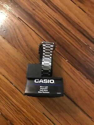 Casio Men's A158WA-1CR Stainless Steel Digital Wrist Watch Water Resistant
