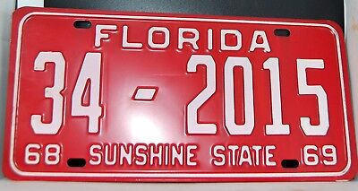 1968- 69 Mint Condition-Florida License Plate -Never Issued