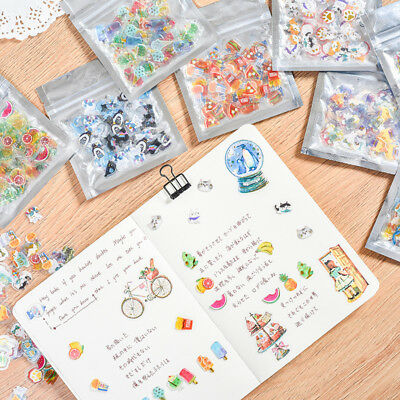 100pc Transparent Fruit Food Stickers Cute Stationery DIY Scrapbooking Sticker